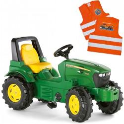 Rolly Toys John Deere Traktor na Pedały FarmTrac + Kamizelka Odblaskowa dla Dzieci Gratis