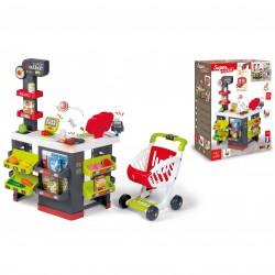 SMOBY Supermarket z Wózkiem, elektroniczną kasą, wagą i 42 akcesoriami